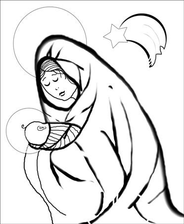 Kolorowanki Religijne Na Boze Narodzenie Inspirander